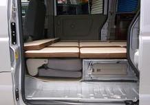 日産 NV100クリッパーバン デモカー 車中泊キャンピング仕様 サブバッテリー走行充電のサムネイル
