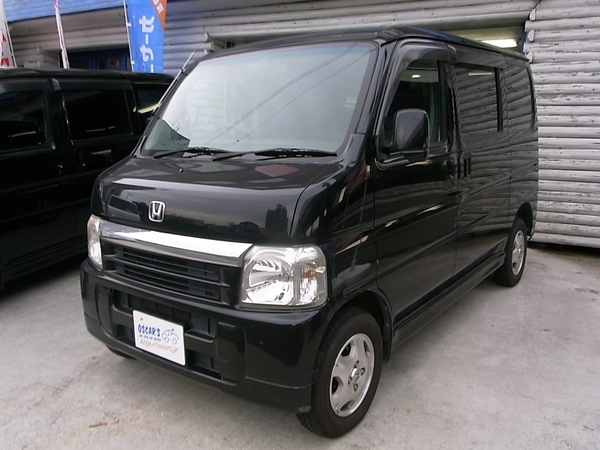 売約済【266】H.18(2006)年 ホンダ バモス L ブラック 走行100,800km